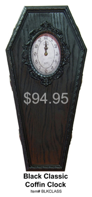 Black Classic Coffin Clock
